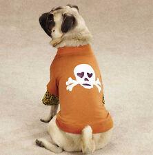 Zack & Zoey Skull-Fari Dog T-Shirt Mock Tee Brown Skull Leopard Top Pet  XXS-L