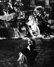 La Dolce Vita Anita Ekberg Iconic in Trevi Fountain Rome Poster or Photo
