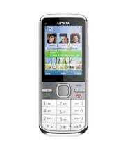 "Nokia C5-00 | 2.2"" Zoll |  Bluetooth | 5 MP | silber-weiß | ohne Simlock"