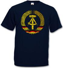 Icono RDA t-shirt-dos bandera emblema Hammer compás ostalgie logo T-Shirt
