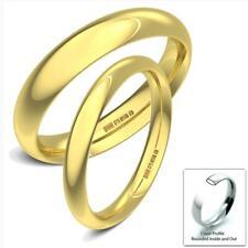 NUOVO 9 KT oro giallo solido Heavy Corte Profilo UK MARCHIATO Fedi Nuziali Band