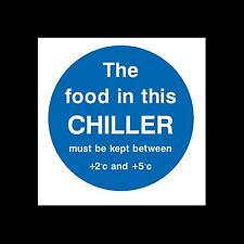 CIBO in refrigeratore debbono essere conservati... Firmare, Adesivo-Tutte le Taglie e materiali - (fp99)