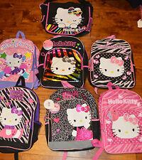 Girl's Hello Kitty Fashion Book Bag Backpack School Travel Zebra Polka Dot