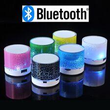 Lumineuse Mini Enceinte Bluetooth Portable Rechargeable Câble USB  Carte SD