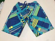 NWT Gymboree Boy Swimsuit Plaid Trunk Shorts UPF 50+ 7/8,5/6