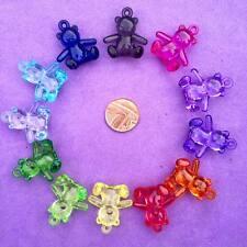 12 X encantos del oso de peluche, artesanías, Llaveros, favores, fabricación de joyas