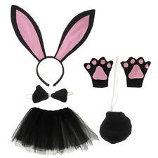 Children Girls Bunny Rabbit Headband Tutu Skirt Costume Accessory Sets