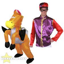 GONFIABILE Equitazione Costume Viola Jockey Ride On Suit Costume Novità