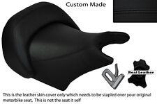 Negro Stitch Custom Fits Yamaha V Max 1200 Frontal Rider Cuero Funda De Asiento