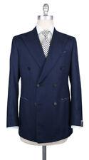 New $6300 Luigi Borrelli Navy Blue Wool Blend Solid Suit - (LB200770R7)