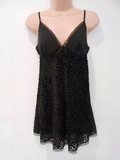 Vestido de noche M&S Negro Corto Sexy Baby Doll mezcla con Braga (nuevo) Talla 8 £ 25.00