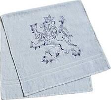 31261 bleu Serviette de toilette 49x102 cm avec Broderie Serviette de bain