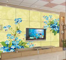 3D mazzo blu Parete Murale Foto Carta da parati immagine sfondo muro stampa