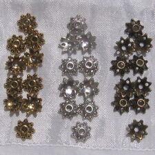 30 coupelles 8mm CHOIX métal argenté doré bronze intercalaires spacers perles