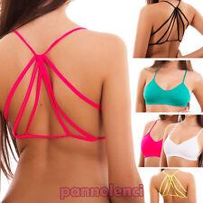 Top donna reggiseno intimo sport listini elastico fitness lingerie nuovo B0456
