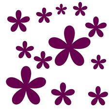 Blumen Set 12 Stck.Aufkleber Fenster Wandtattoo Bad Fliesen Blüten Farbe Kinder