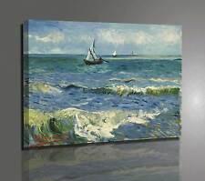 Quadro Van Gogh Vista sul Mare Stampa su Tela Vernice Pennellate Effetto Pittura