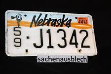 Kennzeichen Nummernschild USA Nebraska 1993 Selten !