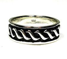 Men's Irish Silver Wedding Band Ring Plus Size 14