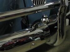 VINTAGE VW BUG OVAL ROUND FOG LIGHT BUMPER LIGHTS MOUNTING BRACKETS PAIR CHROME