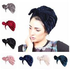 Lucca Rabbit Ear Style Velvet Turban Slip On Cancer Chemo hat