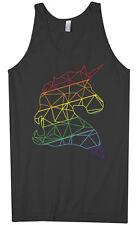 Rainbow Geometric Unicorn Men's Tank Top Birthday Gift Idea