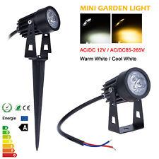 3 Pack Luxform Lille Outdoor Garden Path Spike Post Light Lamp Kit 12V Black