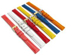 GRANA Colorato Imbottito Lucertola Cinturino in Pelle 12mm 14mm 6 COLORI
