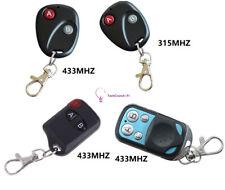 315MHz/433MHz 2/4Buttons RF Remote Control Garage Gate Door Transmitter Wireless