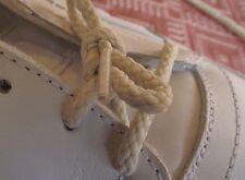 Paire LACETS Chaussures 2 oeillets * 34 cm * blanc cassé beige rond enfant homme