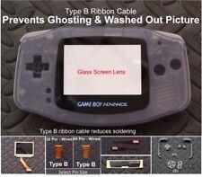 GBA Backlight-Backlit Adapt-AGS101-Mod Kit w/glass lens+Type B-Glacier