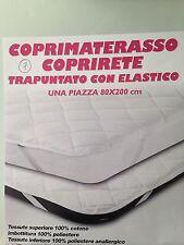 COPRIMATERASSO COPRIRETE TRAPUNTATO CON ELASTICO