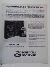 retro magazine advert 1982 SEQUENTIAL CIRCUITS INC