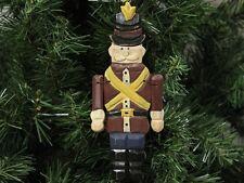 Rustic Nutcracker Soldier Christmas Ornament, Wooden