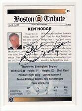 KEN HODGE SIGNED BOSTON BRUINS HOCKEY CARD