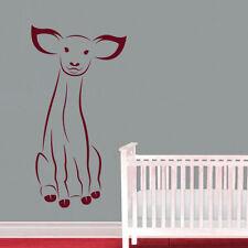 Sticker Décoration Animaux Sauvage Biche assis mignon, (10x5 cm à 50x26 cm)