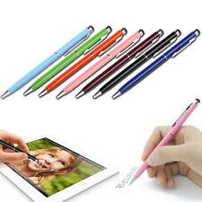 2/5/10PCS/set 2 in 1 Touch Screen Stylus&Gel Ink Ball Pen Rubber Tip Clip Fine &