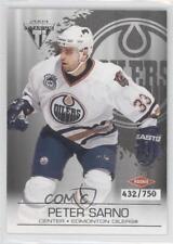 2003 Pacific Private Stock Titanium Retail #120 Peter Sarno Edmonton Oilers Card