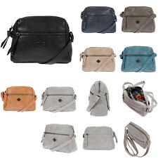 Kleine Damen Schultertasche Umhängetasche Handtasche Leder Optik Tasche Schwarz