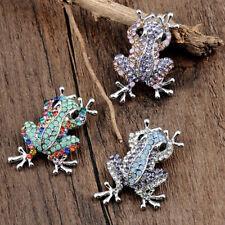 Fashion Women Cute Brooch Full Rhinestone Little Frog Brooch Pin Buckle Jewelry