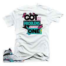 Shirt to Match Jordan 8 South Beach-99 Problems White Tee