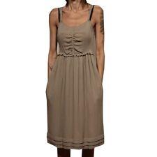 83232 vestito BURBERRY BRIT SETA abito donna dress women