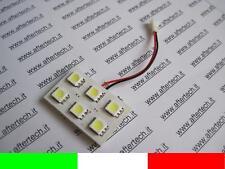 PANNELLO 6 LED SMD5050 BIANCO 6000K T10 BA9S SILURO L