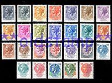 ITALIA TURRITA 1968 1977 Siracusana stelle 26v.** serie, singolo e quartine **