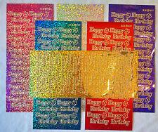 """Diamante holográfica """"Feliz Cumpleaños"""" pegatinas-Tarjeta de decisiones, artes y manualidades"""