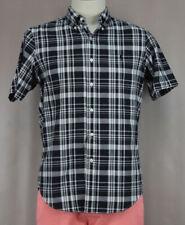 Ralph Lauren Men's Black White Plaid Dress Casual Button Up Shirt Ret $85 New