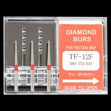 10 Packs TF-12F MANI DIA-BURS Dental High Speed Handpiece Diamond Burs FG 1.6mm