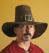 Medieval Celtic Renaissance SCA Larp Puritan Solomon Kane Leather Hat
