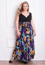 Sexy GIGI Designs Black Floral Plus Size Glamorous Valencia Maxi Party Dress