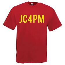 Men's Red JC4PM Jeremy Corbyn Labour Political Party Leader T-Shirt Politics